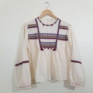 Zara girls bohemian top